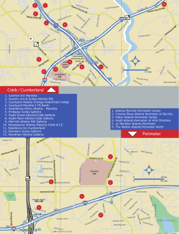 2015 Convention Planner Map Cobb