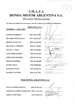 S.M.A.T.A HONDA MOTOR ARGENTINA S.A.