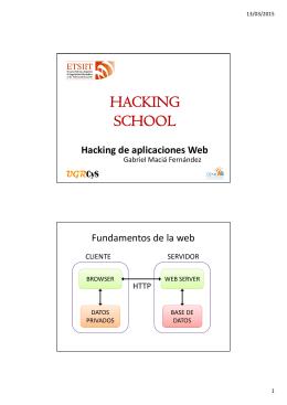 Hacking de aplicaciones en la Web.