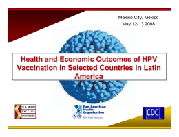 Health and Economic Outcomes of HPV Vaccination in Selected