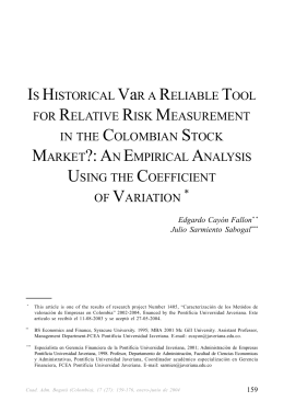 IS HISTORICAL VaR A RELIABLE TOOL FOR RELATIVE RISK