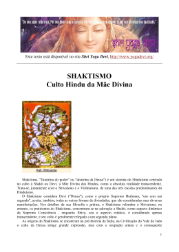 SHAKTISMO Culto Hindu da Mãe Divina