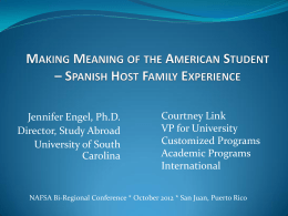 Making Meaning of the American Student – Spanish Host