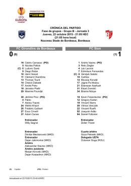 FC Sion FC Girondins de Bordeaux