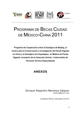 PROGRAMA DE BECAS CIUDAD DE MÉXICO-CHINA 2011