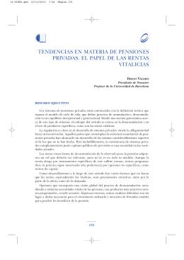Tendencias en materia de pensiones privadas: El papel de las rentas