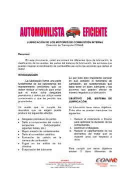 LUBRICACIÓN DE LOS MOTORES DE COMBUSTIÓN