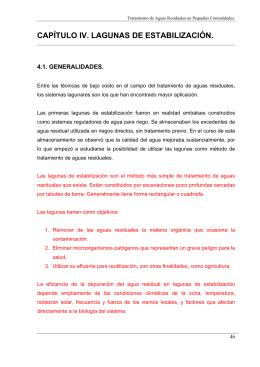 LAGUNAS DE ESTABILIZACION (LAGUNAS DE OXIDACION)
