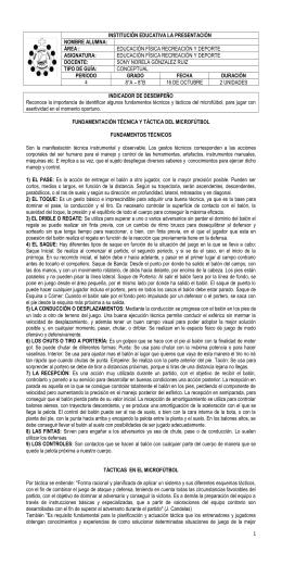 Fundamentacion Tecnica y Tactica Del Microfutbol