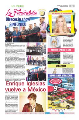 Enrique Iglesias vuelve a México