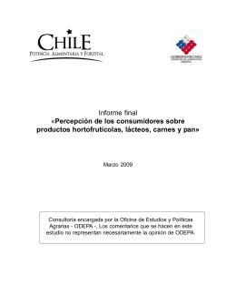 Informe final «Percepción de los consumidores sobre