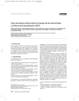 Guía práctica- Clínica de hemorroides y fisura anal