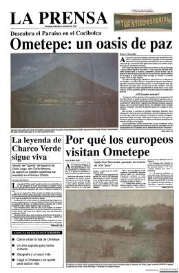 Ometepe: un oasis de paz - La Prensa 4 de marzo de 1993
