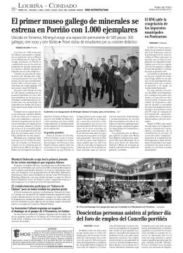 El primer museo gallego de minerales se estrena en Porriño con