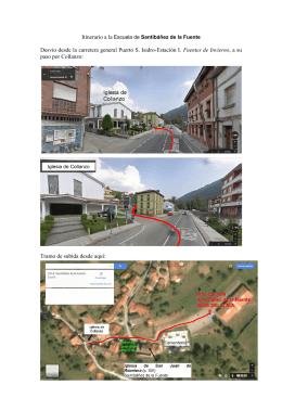 Itinerario a la escuela de Santibáñez de la Fuente -desde Collanzo-