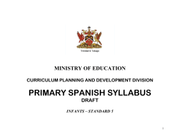 standard i - TT Ministry of Education