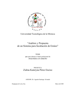 Análisis y Propuesta de un Sistema para Incubación de Emúes