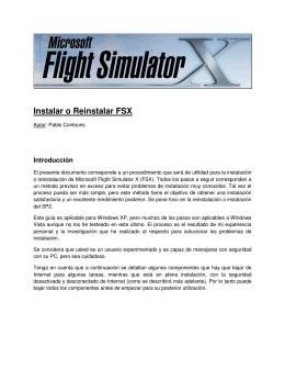 Instalar o Reinstalar FSX - Flight Simulator Argentina