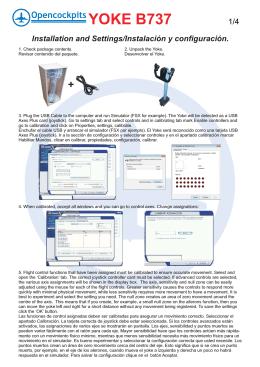 Manual de instalación y uso del Yoke B737.