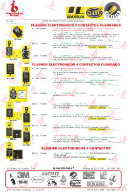 flasher electronicos 3 contactos cuadrados