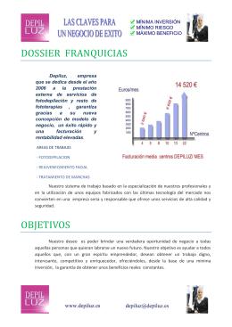 DOSSIER FRANQUICIAS OBJETIVOS