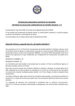 FEDERACION ARAGONESA DEPORTES DE INVIERNO