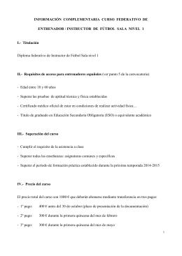nivel 1 fútbol sala - Federación Territorial Extremeña de Fútbol