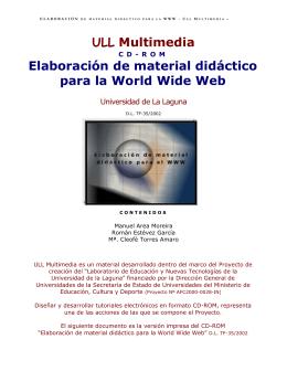 Elaboración de material didáctico para la World Wide Web