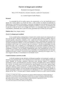 FanArt, la imagen para socializar - Acta Científica Congreso Alas Chile