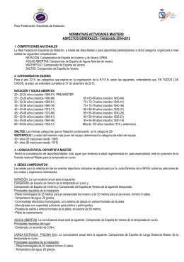Aspectos generales e impresos 2014-2015