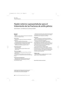 Fijador externo supraacetabular para el tratamiento de las fracturas