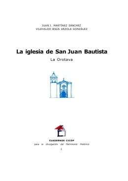 La iglesia de San Juan Bautista - Publicaciones Juan José Martínez