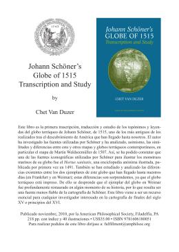 Van Duzer Schoner 1515 flyer Spanish.indd