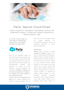 Parla, Secure Cloud Email