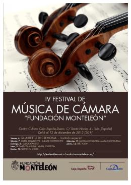 Presentación IV Festival Música de Cámara