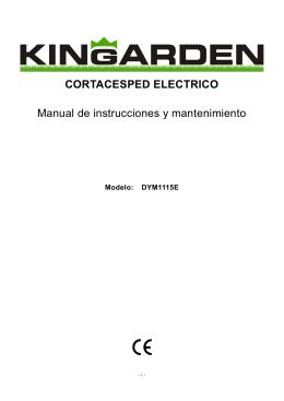 CORTACESPED ELECTRICO Manual de instrucciones y