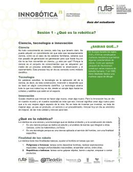 Sesion 01 - Que es la Robotica (Estudiante)