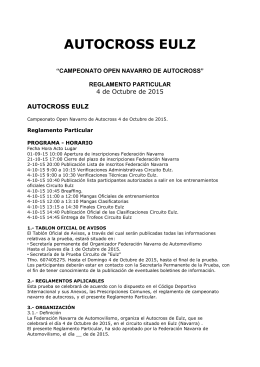 Reglamento - Federación Navarra de Automovilismo