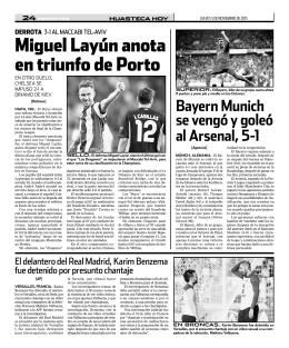 Miguel Layún anota en triunfo de Porto