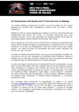 Comunicado FIM X-TRIAL Malaga