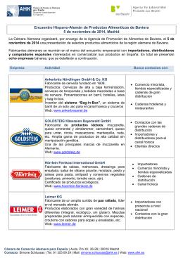 Listado de empresas alemanas