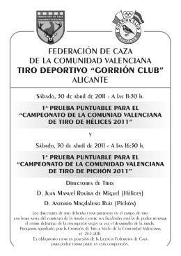 federación de caza de la comunidad valenciana tiro deportivo