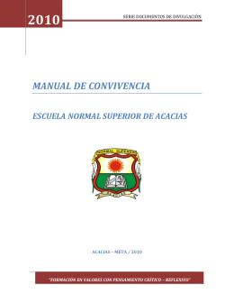 MANUAL DE CONVIVENCIA ENSA 2010