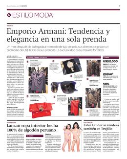 Emporio Armani: Tendencia y elegancia en una sola prenda