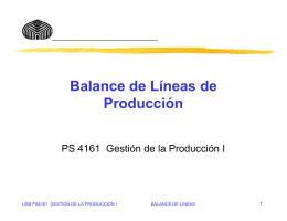 Balance de Líneas de Producción