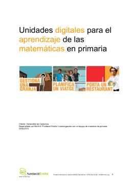 Unidades digitales para el aprendizaje de las matemáticas