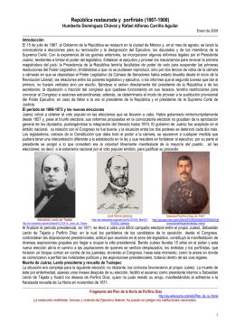 República restaurada y porfiriato - Portal Académico del CCH