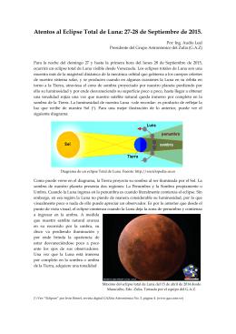 Atentos al Eclipse Total de Luna: 27