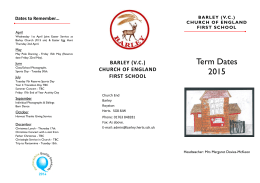 Parent Term Dates Leaflet - 2015