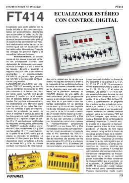 FT414 ECUALIZADOR ESTÉREO CON CONTROL DIGITAL